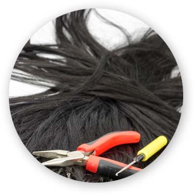 colocacion de extensiones de pelo de anillas valencia