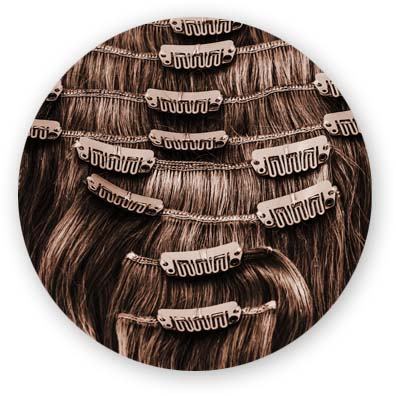Extensiones de pelo en Clips o Micropeineta